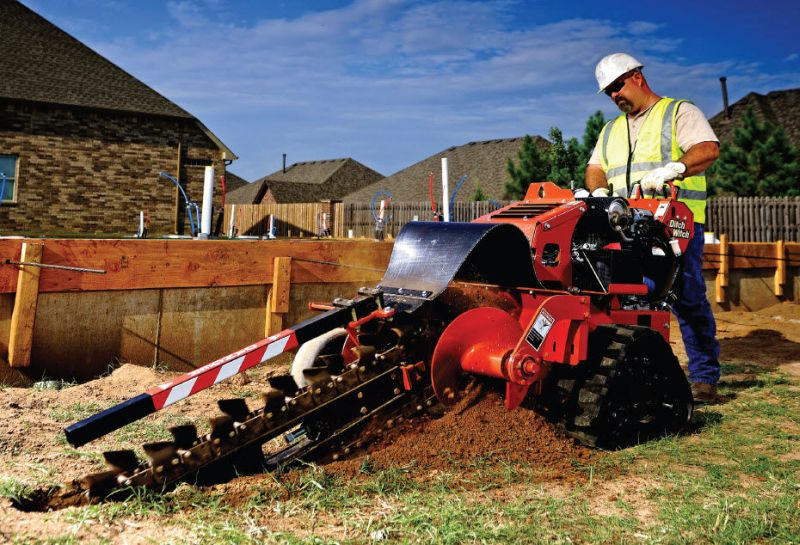 Ditch Witch RT16 walk-behind trencher
