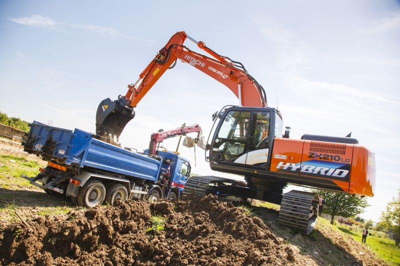 Hitachi ZH210LC-5 hybrid excavator
