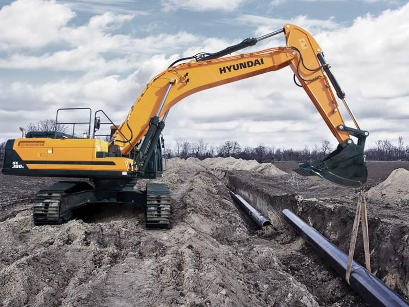 מחפר יונדאי HX380 L