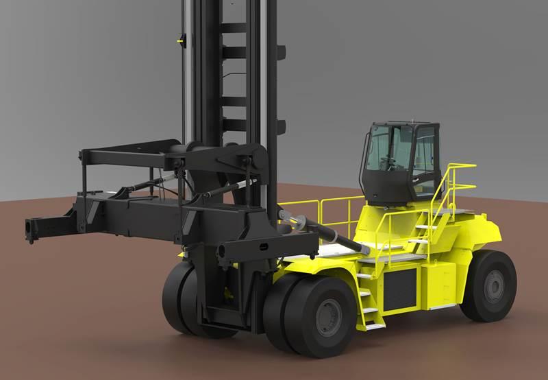 משנעת מכולות חשמלית הייסטר 48 טון )איור(