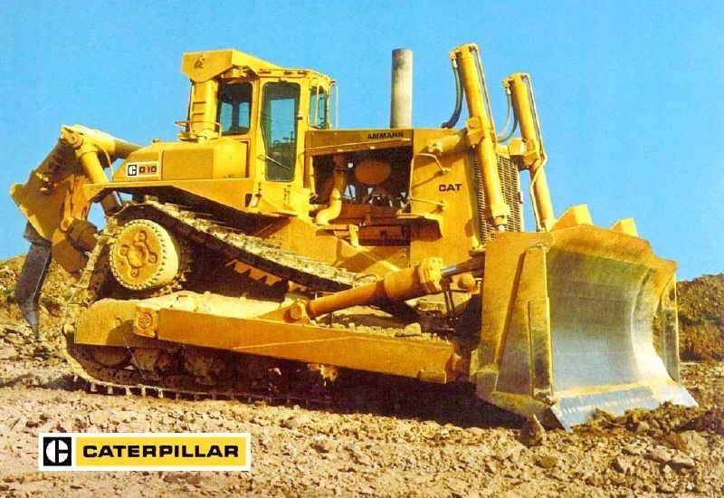 דחפור קטרפילר D10 דור ראשון