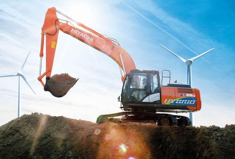 מחפר היטאצ'י ZH210-6 Hybrid