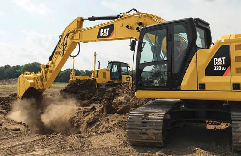 מחפר קטרפילר 320 GC