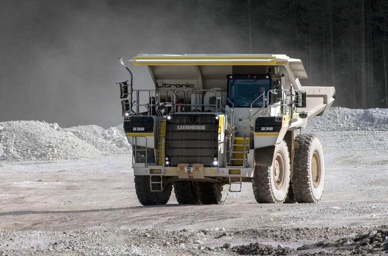 משאית מכרות חשמלית ליבהר T236